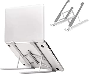 Laptop Stand, Ergonomic Adjustable Laptop Holder for Desk, Foldable & Portable Notebook Stand Compatible with MacBook, iPad, HP, Dell, Lenovo