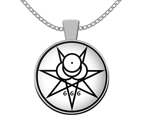 Esoteric Necklace Mark Of The Beast 666 Symbol Thelema Pendant