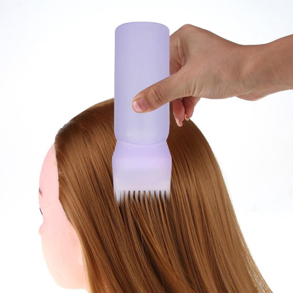 Hair Care,Baomabao Hair Dye Bottle Applicator Brush Dispensing Salon Hair Coloring Dyeing (Purple)