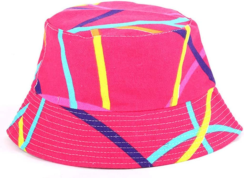 Fashion Packable Reversible Black Printed Fisherman Bucket Sun Hat