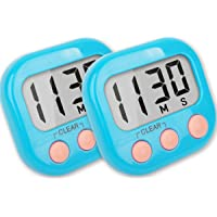 Kitchen Timers Loud Ring Digital Timers for Cooking Magnetic 2 Pack