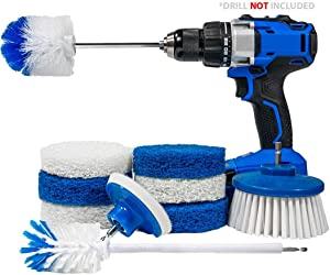 RotoScrub 10-Pc All-in-One Home Cleaning Drill Accessory Combo Kit