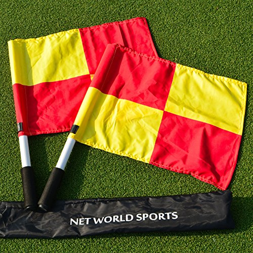 (UEFA Linesman Flags - Pair of Quality Linesman Flags To Bring Your Soccer Club To The Top Of The League! [Net World Sports])