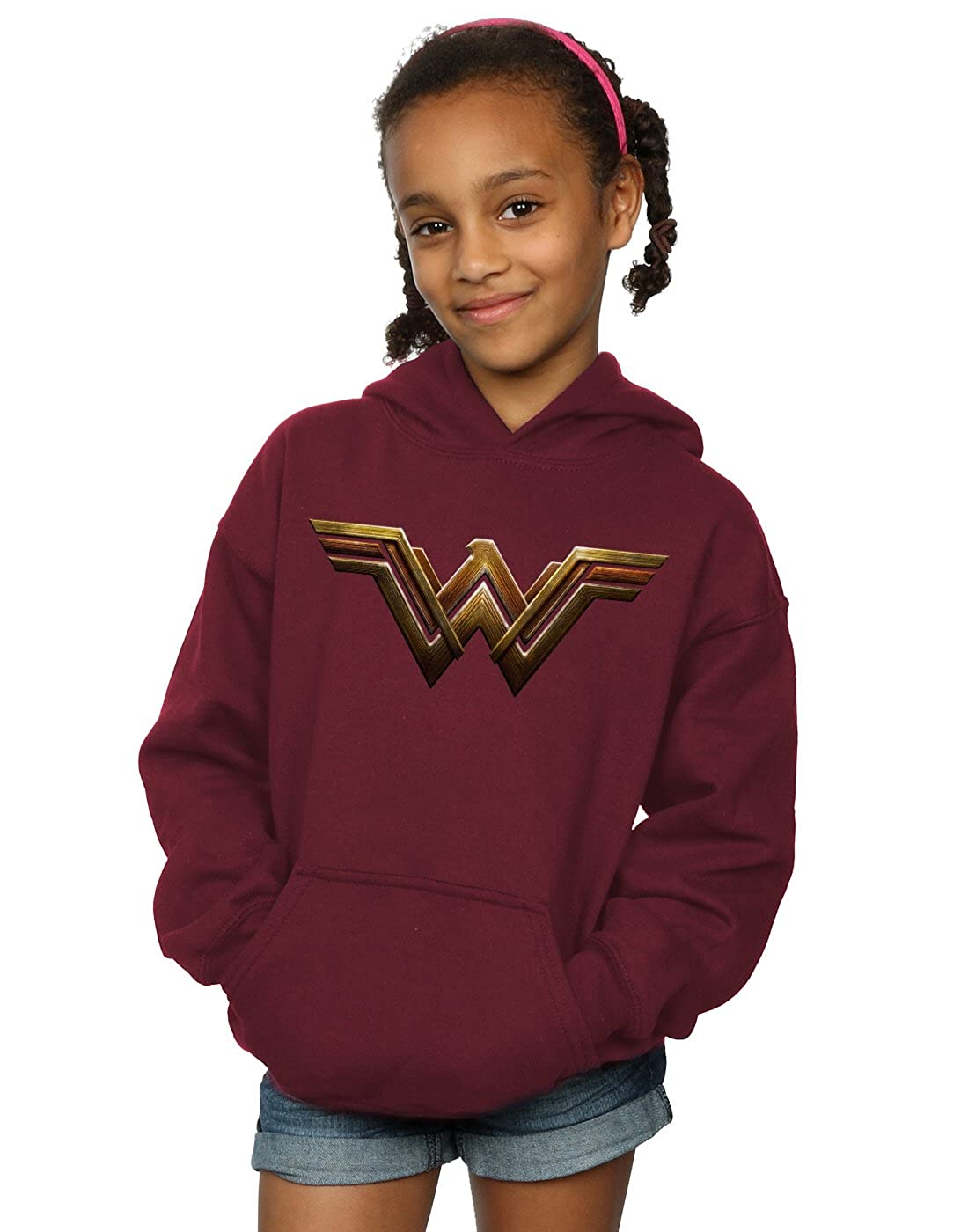 DC Comics Bambine e Ragazze Justice League Movie Wonder Woman Emblem Felpa con Cappuccio Absolute Cult