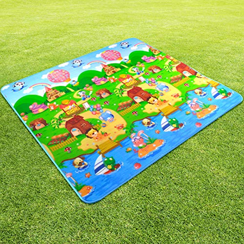 Tutti Bambini Soft Cotton Baby Kids Game Gym Activity Play Mat Crawling Blanket