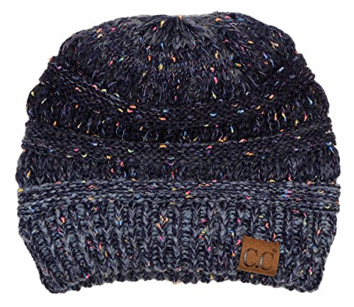 H-6033-8131 Confetti Knit Beanie - Faded/Variegated - Navy