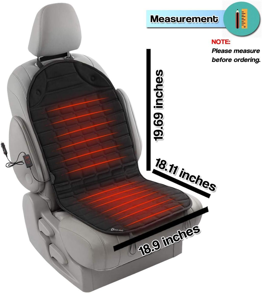 Amazon.com: Cojín calefactable para asiento de coche de 12 V ...
