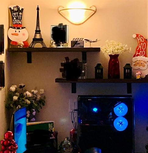 EMERIT Floating Wall Mountable Shelf Set of 2 Wall Storage Shelves for Bedroom, Living Room, Bathroom, Kitchen, Office Light Grey