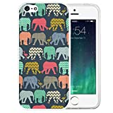 iPhone SE Case, LAACO Beautiful Clear TPU Case Rubber Silicone Skin Cover