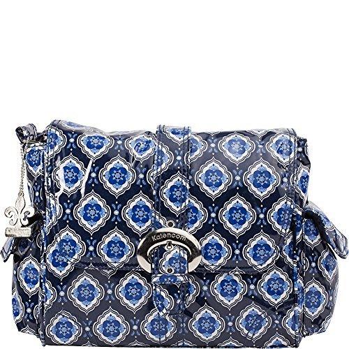 - Kalencom Midi Coated Diaper Buckle Bag, Navy Medallion by Kalencom