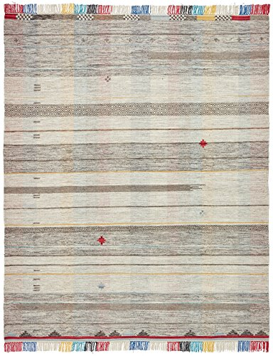 Cheap Stone & Beam Contemporary Colorful Fringe Wool Rug, 8′ x 10′, Tan Multi