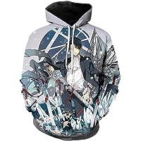 Unisex Hoodie Long Sleeve Sweatshirt Fashion Casual 3D Print Anime Attack on Titan Graphics Pullover Harajuku Style…