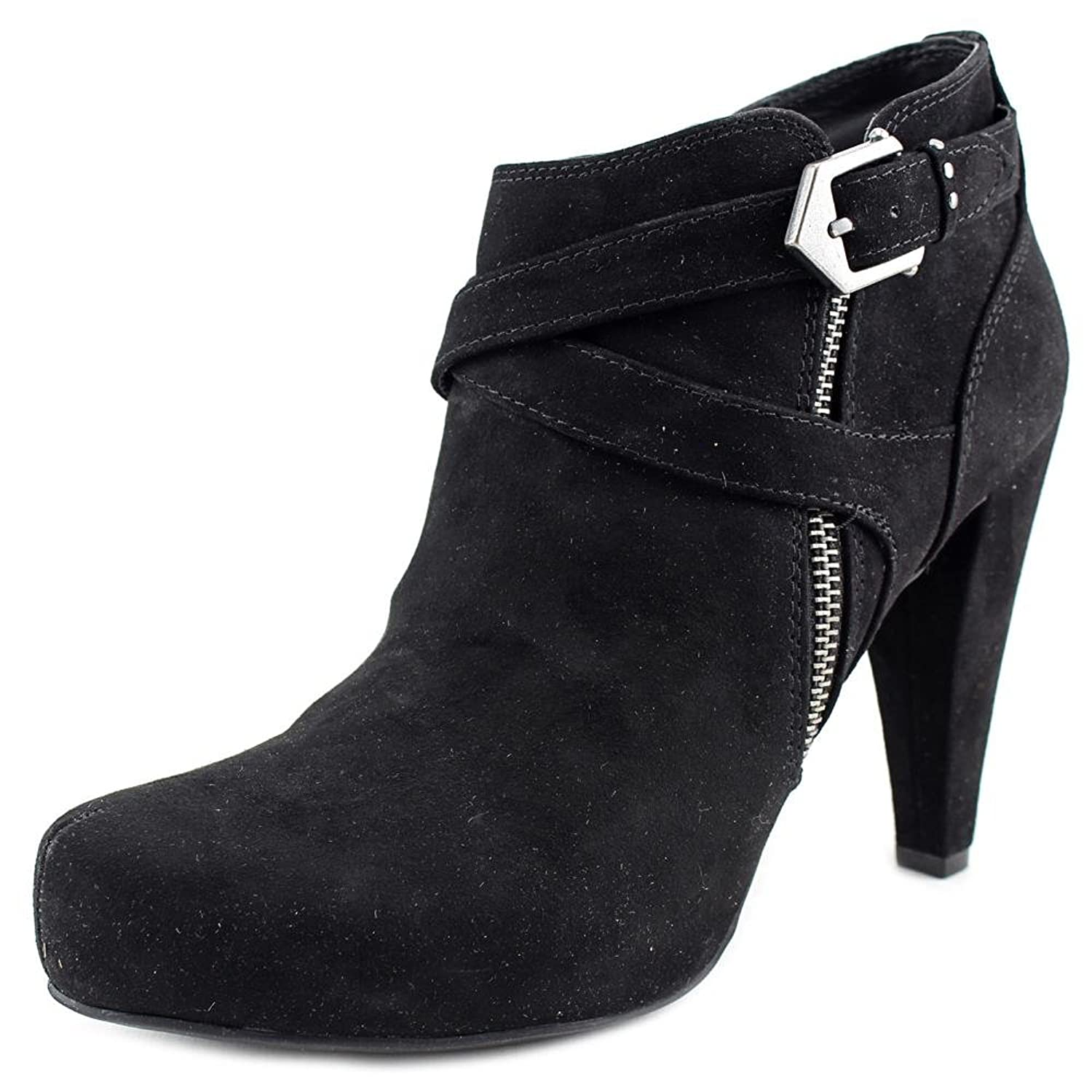G by Guess Womens Taylin Closed Toe Ankle Fashion Boots Black Fabric Size 8.5