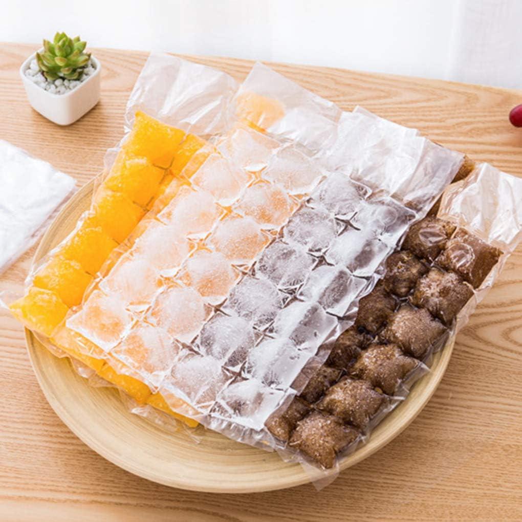 Busirde 10pcs Pack Wegwerfselbstdicht Eisspeicher-Taschen DIY Eisw/ürfelbereiter-Beh/älter-Form Cocktail Saft K/üchenzubeh/ör