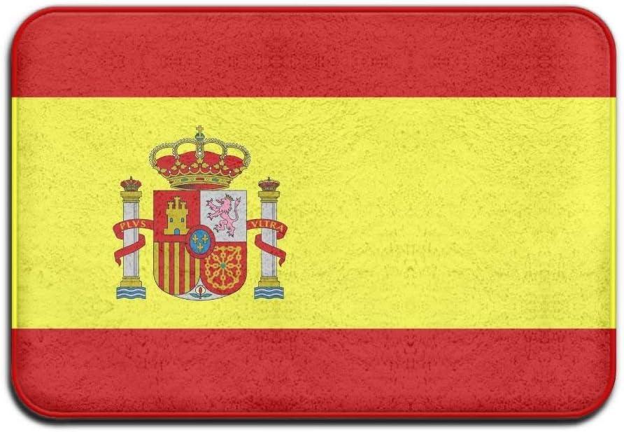 Abfind Bandera de España Hogar Felpudos Alfombrillas al Aire Libre únicas Interiores Patines Antideslizantes Baño Cocina Encantadora 16 Pulgadas * 24 Pulgadas, 40 cm * 60 cm: Amazon.es: Hogar
