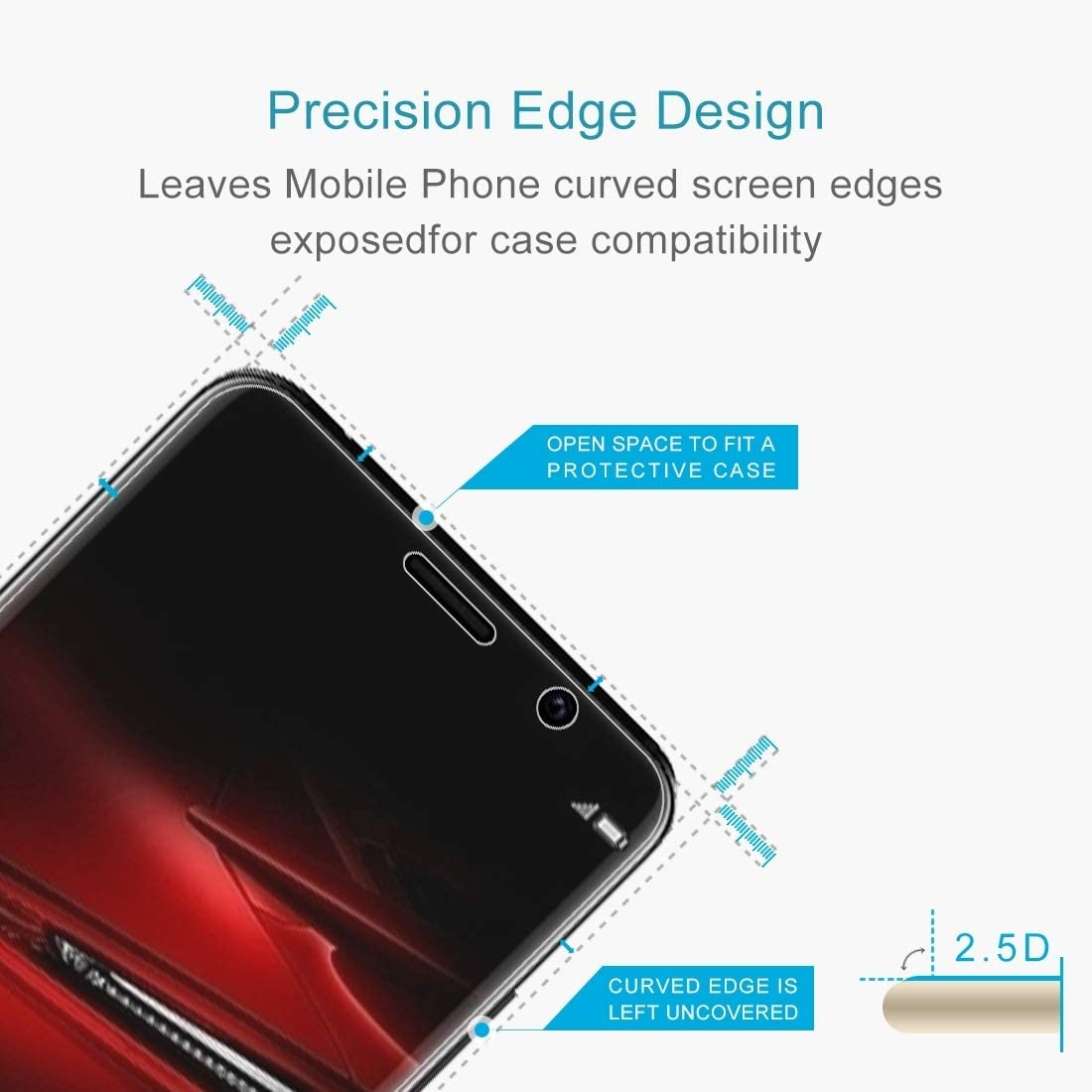Temperedglass YHM 100 PCS 0.26mm 9H 2.5D Tempered Glass Film for Huawei Mate RS