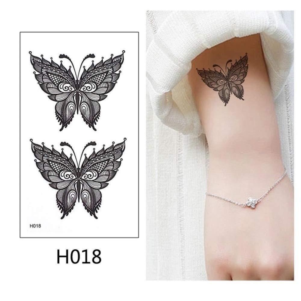 Modeganqing 8 Piezas Pegatinas de Tatuaje Tatuaje Negro búho Flash ...