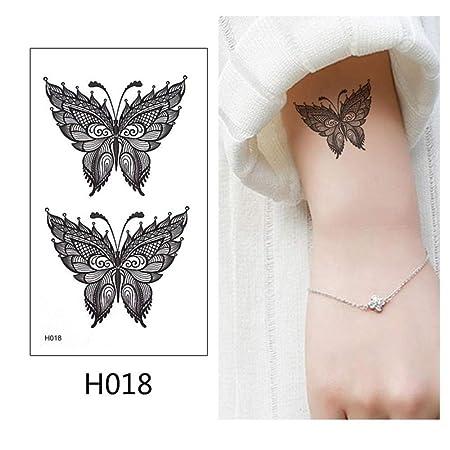 adgkitb 5 Piezas Etiqueta engomada del Tatuaje Temporal Negro ...