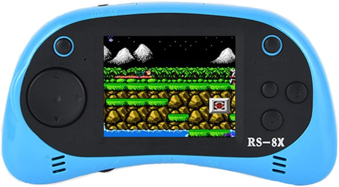 Joseky Portable Handheld Game Console ,RS-8X 16 Bit HD Portable Game Player 2.5 Inch LCD Screen Built-in 42 Classic Games Handheld Video Console Support AV/TV (Blue)