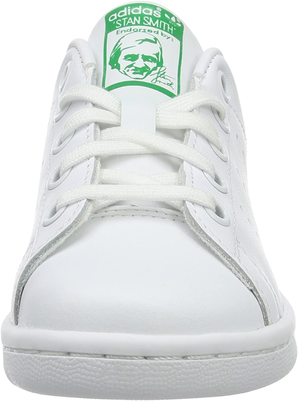 adidas Originals Stan Smith C White//Green Leather 12 M US Little Kid