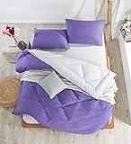 EnLora Home Double Quilt Cover Set, Purple