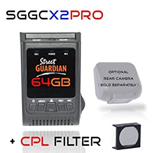 Street Guardian SGGCX2PRO Dash Camera with 64GB MicroSD Card