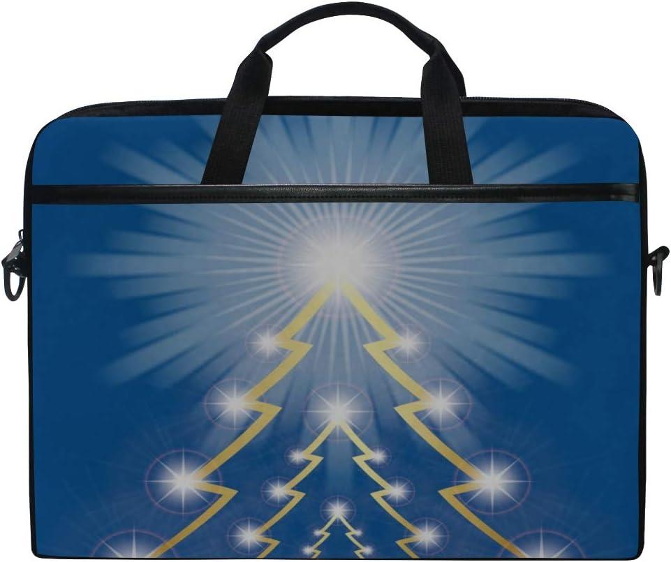 College Students Business People Office Workers Laptop Bag Christmas Tree 15-15.4 Inch Laptop Case Briefcase Messenger Shoulder Bag for Men Women