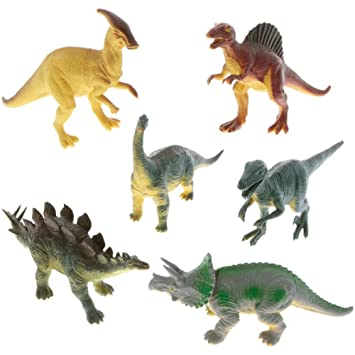World Toy Set Mini Pcs 6 Qbrcowxeed Party Dinosaur Rubber Figures e9WIYEH2D