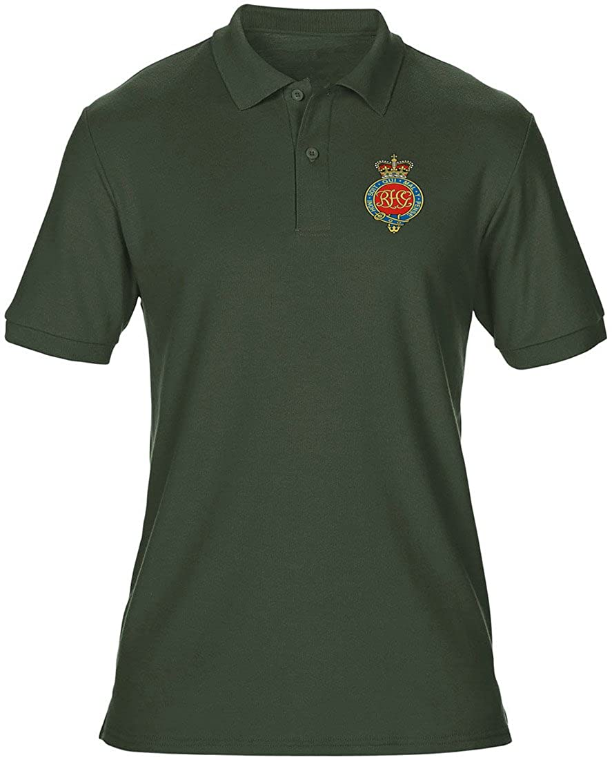 Military Online The Royal Horse Guards Embroidered Logo Official British Army Mens Polo Shirt by