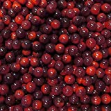 """Unique & Custom {9/16'' Inch} Approx 1 Pound Set of Approx 120 """"Round"""" Opaque Marbles Made of Glass for Filling Vases, Games & Decor w/ Dark Glossy Ombre Burgundy Cherry Tone Design [Red Color]"""