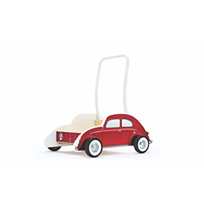Hape Kids Classical VW Bus Wooden Walker, Red: Toys & Games