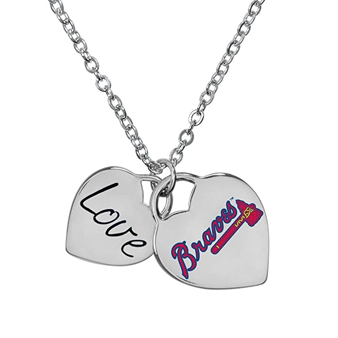 de6f20a7c7d Image Unavailable. Image not available for. Color: Atlanta Braves MLB  Ladies Heart Necklace