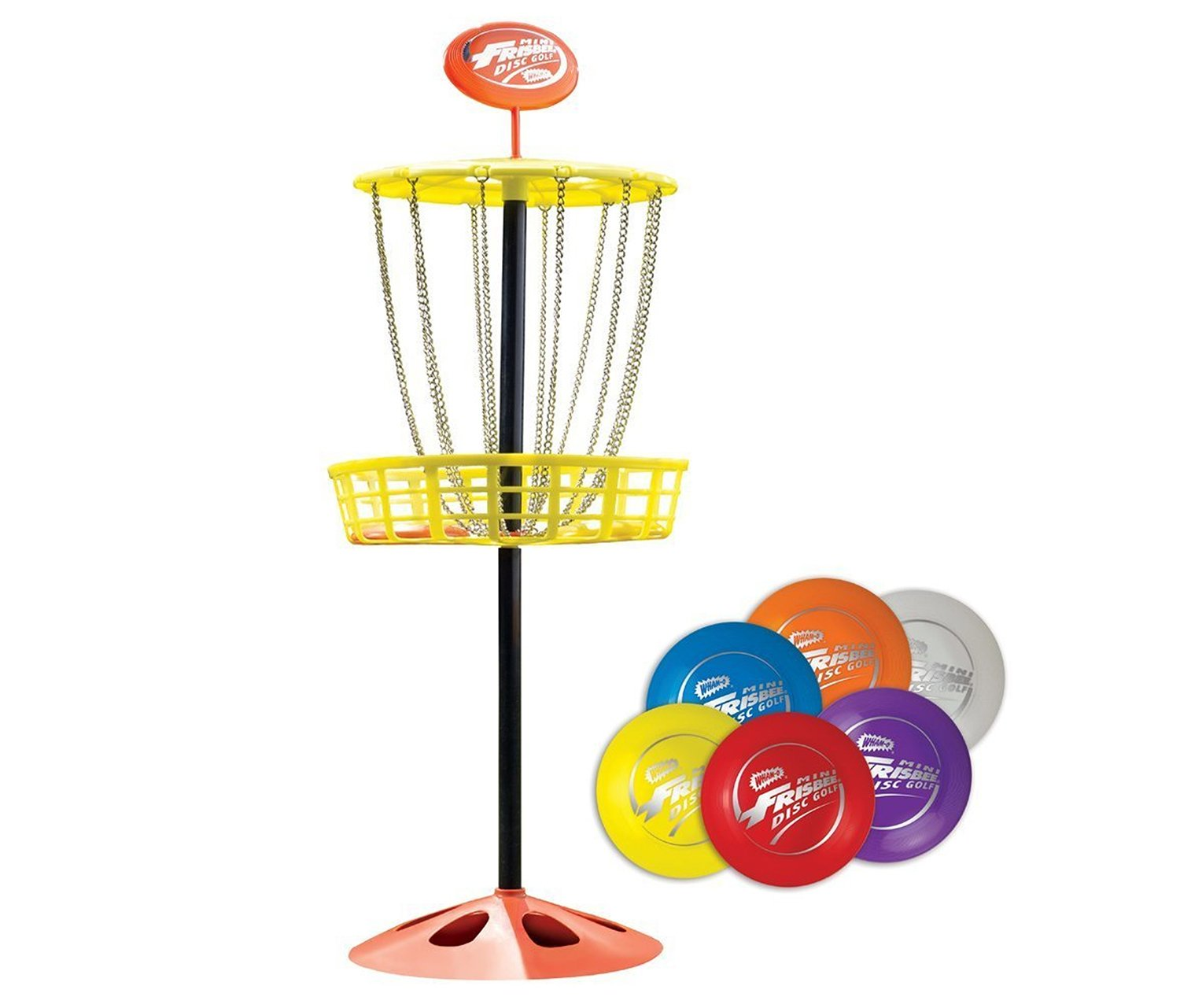 Mozlly Multipack - Wham-O Mini Frisbee Golf Disc - 11.6 x 11.6 x 28 inch - Outdoor Play Set (Pack of 6) - Item #S119039_X6