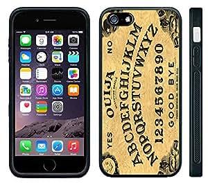 Apple iPhone 6 Black Rubber Silicone Case - Ouija Board Game Evil Talking Board Spirits
