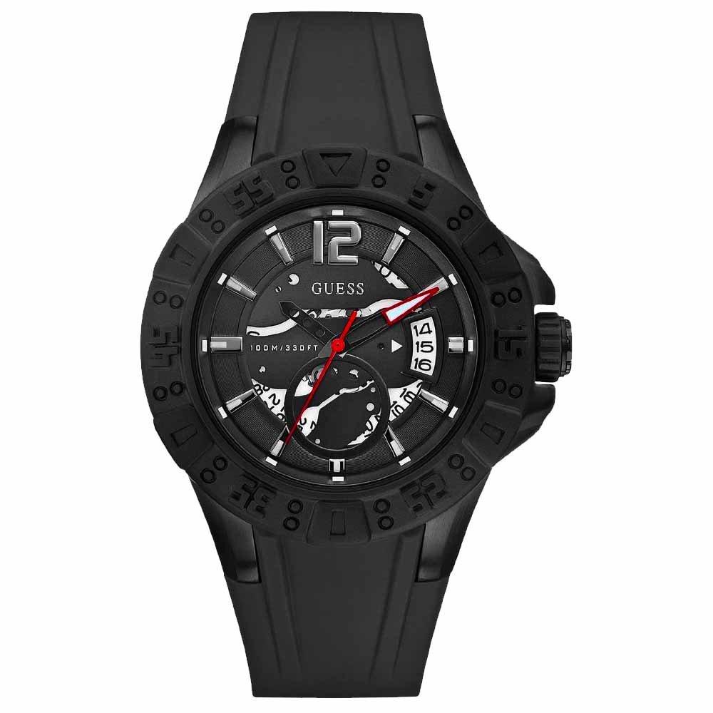 GUESS Men's U0034G3 Black Sport Color Watch