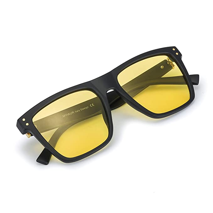 a0496e583b Myiaur Unisex HD Night Vision Driving Polarized Square Glasses ...