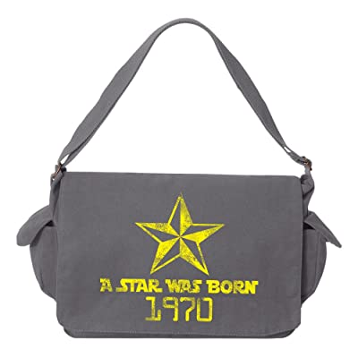 Tenacitee A Star Was Born 1970 Brushed Canvas Messenger Bag