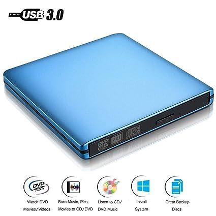 WMWHALE External DVD Drive USB 3 0 CD/RW Burner Slim 8X