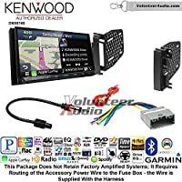 Volunteer Audio Kenwood DNX874S Double Din Radio Install Kit with GPS Navigation Apple CarPlay Android Auto Fits 2009-2010 Ram 2011-2014 Chrysler 200 (REF, REC, and RAK Factory Radios)