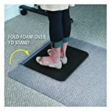 ES Robbins Sit or Stand Mat for Carpet or Hard Floors with Lip, 36'' x 53'', Clear/Black