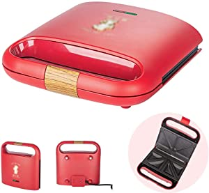 Mini Sandwich Maker Toaster, Deep Fill 2 Slice Waffle Maker With Easy Clean, Non-Stick Plates & Cool Touch Handles 700W, With Indicator Lights, Portable, With Indicator Light