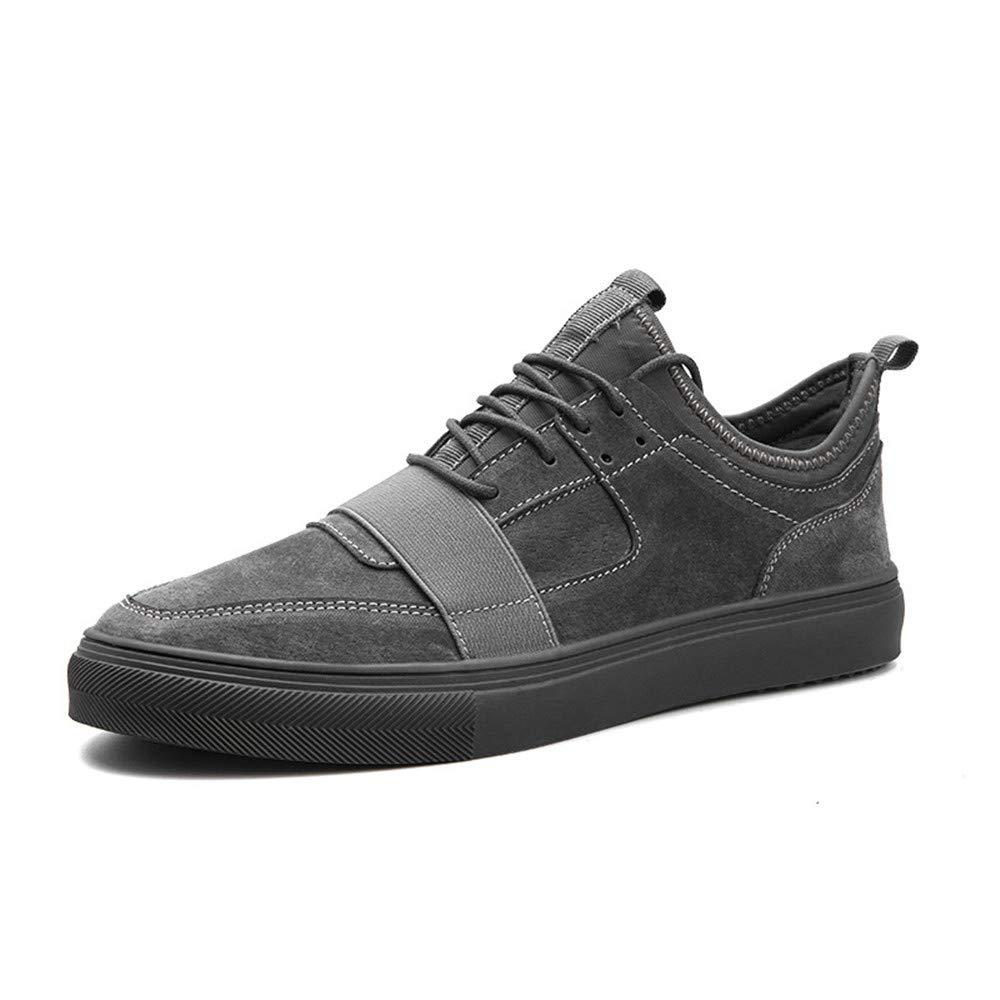 schuheDQ Lässige Herrenschuhe Mattleder Mattleder Mattleder Grau Vier Jahreszeiten können Bord Schuh tragen Freizeit e0014e