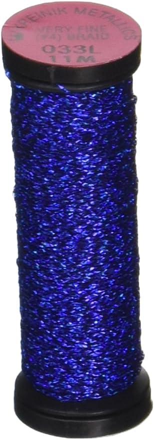 12-Yard Kreinik No.4 Very Fine Metallic Craft Braid Royal Blast