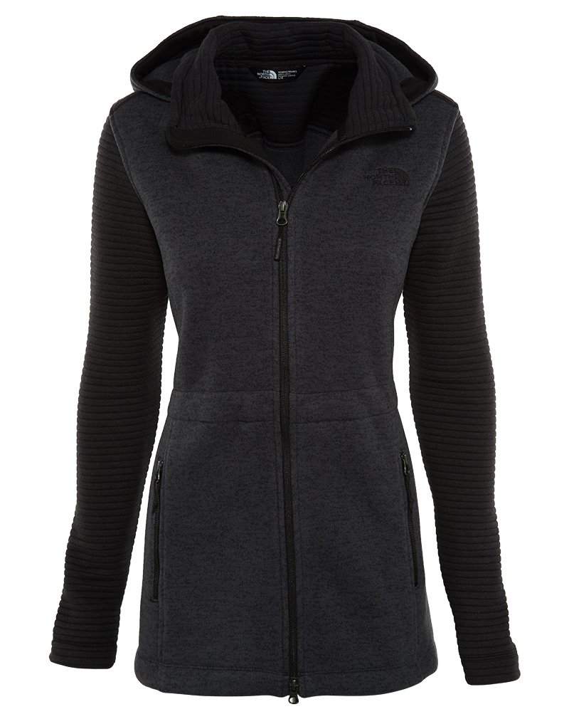 The North Face Indi Insulated Hoodie Womens TNF Black Heather/TNF Black L by The North Face (Image #1)