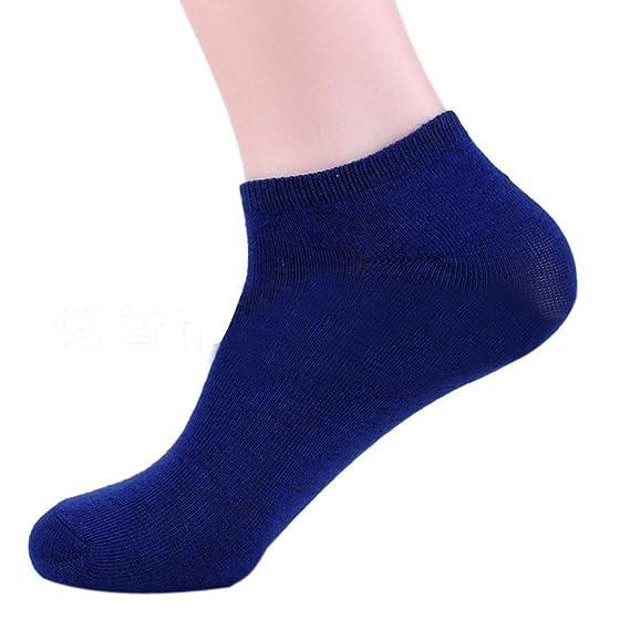 DAYLIN Hombres Calcetines cortos Color Sólido Invisible Calcetines, Negro, Azul, Gris, Blanco