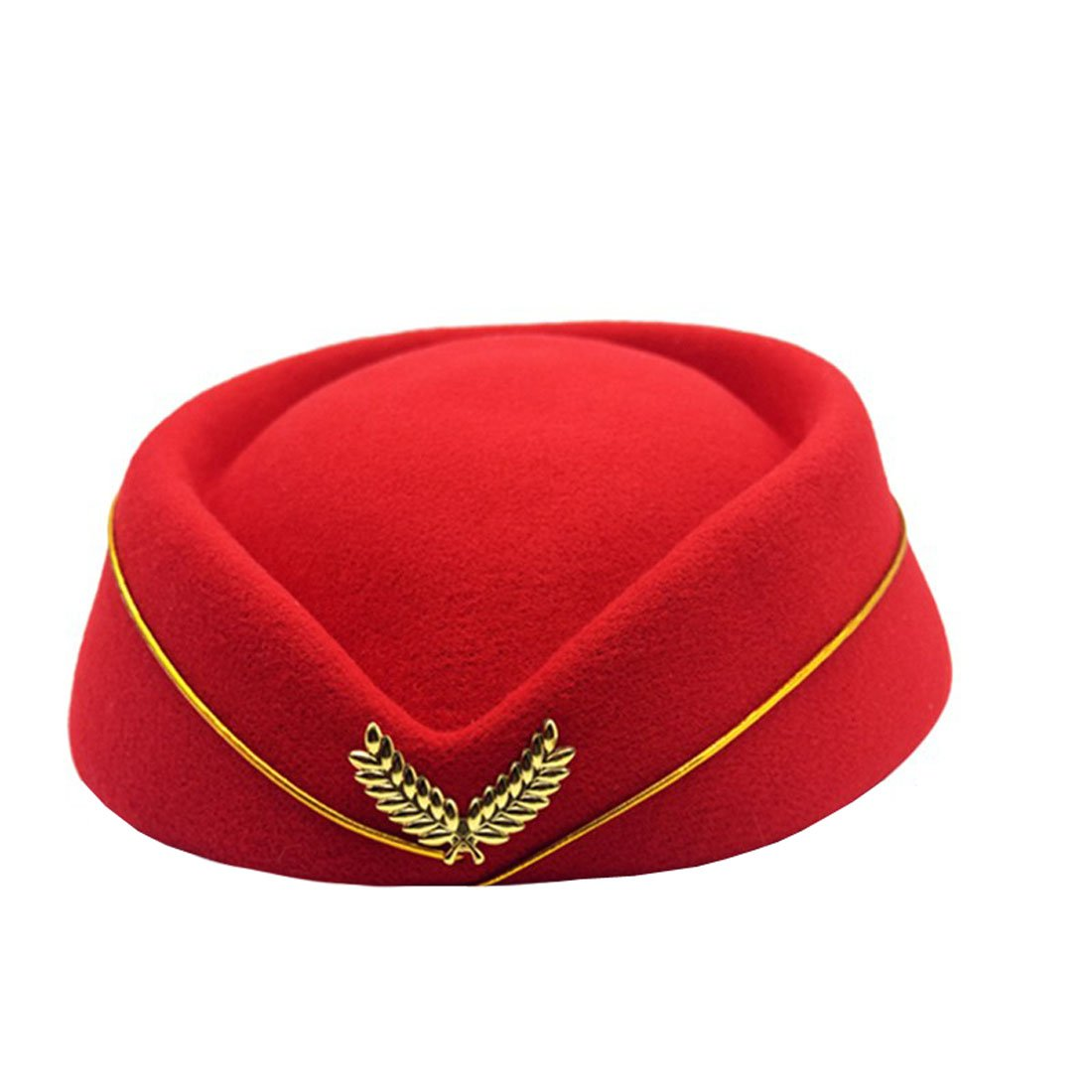 YueLian Women's Autumn Wool Stewardess Hat Winter Party Halloween Headwear