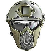 Cascos tácticos Airsoft Paint Ball Casco, Gafas Máscara