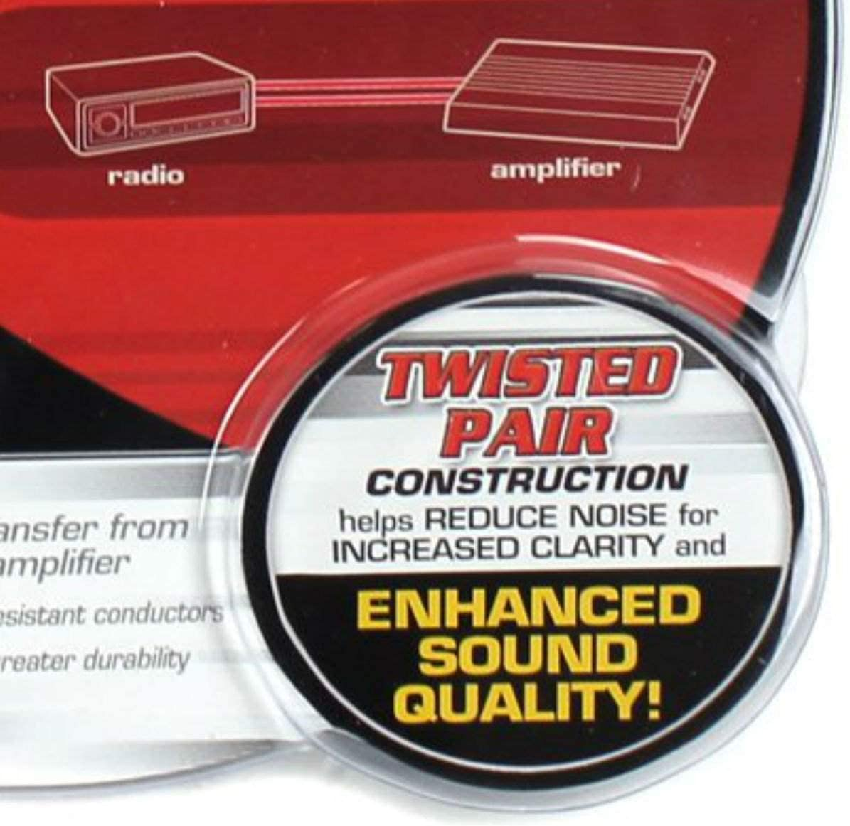 Rockford Fosgate RFI-20 20 Twisted 2 Ch RCA Car Audio Signal Cables 3 Pack