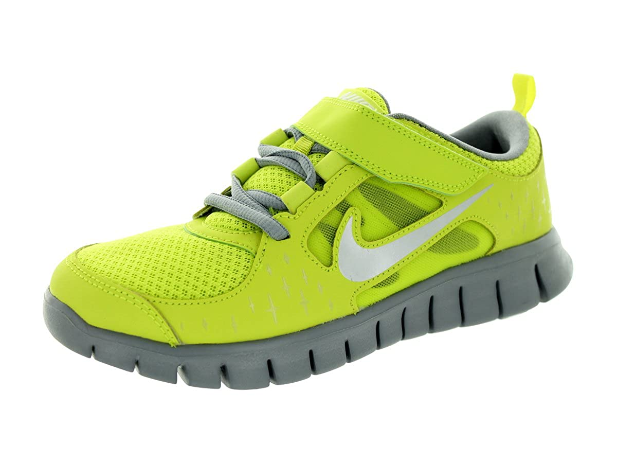 124f496a797d1 Nike Kids Free Run 3 (PSV) Cyber/RFLCT Silver/Stlth/White Running Shoe 3  Kids US
