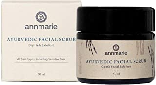 product image for Annmarie Skin Care Ayurvedic Facial Scrub - Gentle Facial Exfoliant with Rosemary, Moroccan Rhassoul Clay + Fenugreek (50 Milliliters, 1.7 Fluid Ounces)